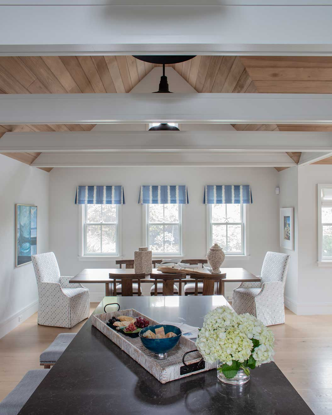 nantucket home, dining room